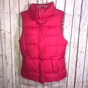Gap Factory Puffer Vest Size XS Hot Pink